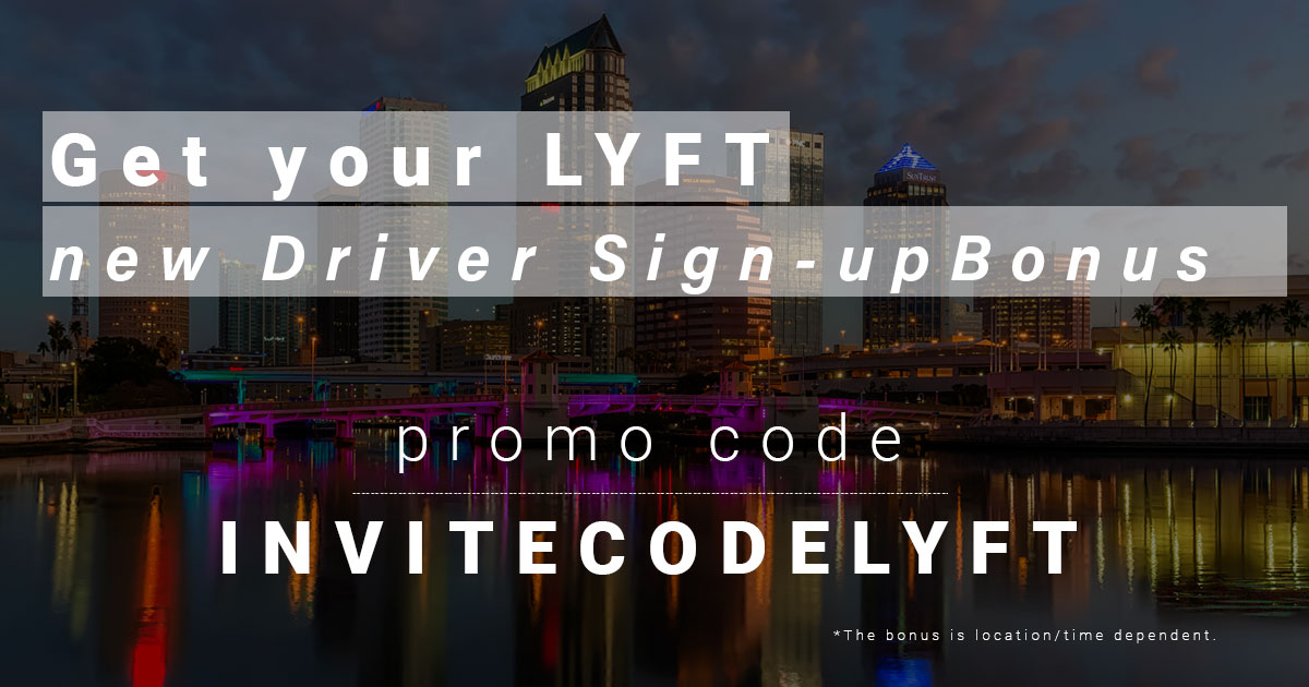 Lyft Referral promo code Tampa Bay