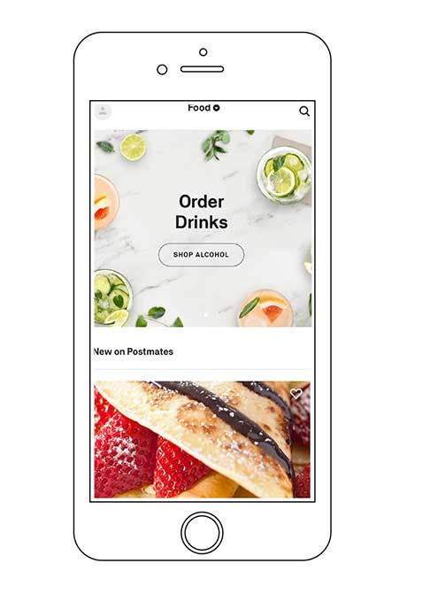 postmates drink delivery