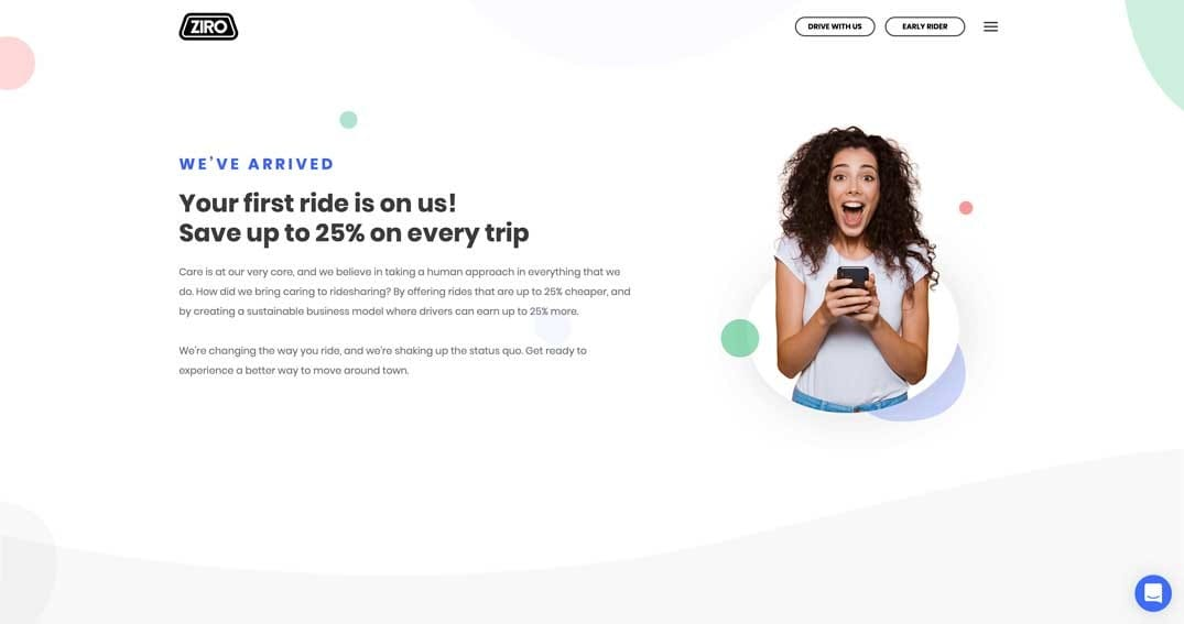 what is ziro ridesharing